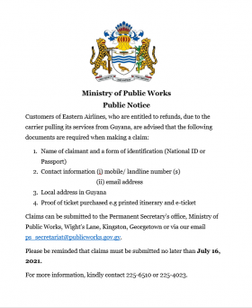 Public Notice- Requirements for Customers Makin...