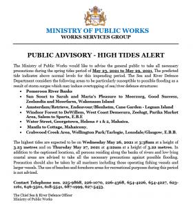 High Tide Advisory (May, 2021)