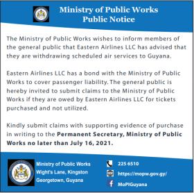 Refunds for Passengers of Eastern Airlines