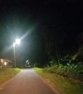 Wakenaam finally gets street lighting